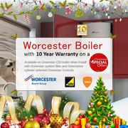Get Worcester Boiler with 10 year warranty – Christmas offer
