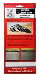 Get Online ONE PAIR SERRATED CUTTER BLANKS Online @ UK